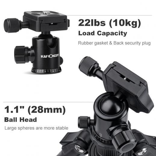 TM2534 DSLRカメラ三脚モノポットキットフィットニコン、キヤノン