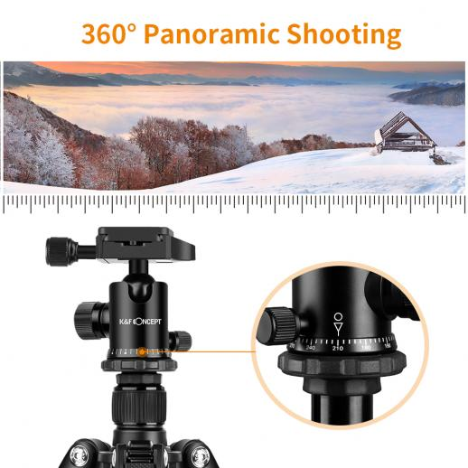 ニコンDSLRカメラ、キヤノン用TM2515アルミニウム三脚一脚
