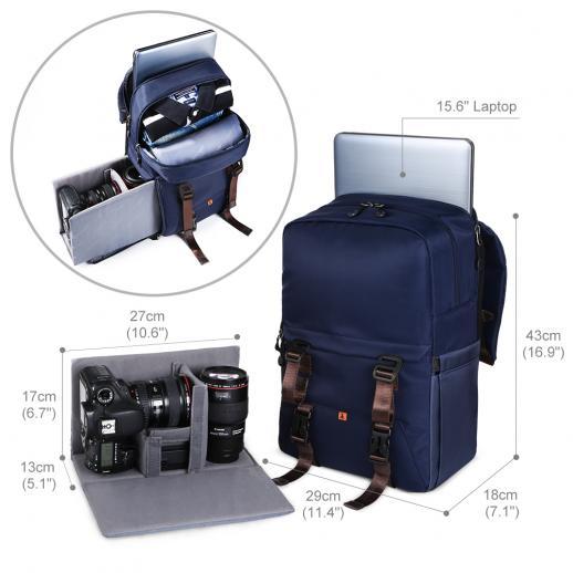屋外写真のための多機能DSLRカメラ旅行のバックパック防水10.63 * 6.69 * 16.53インチ