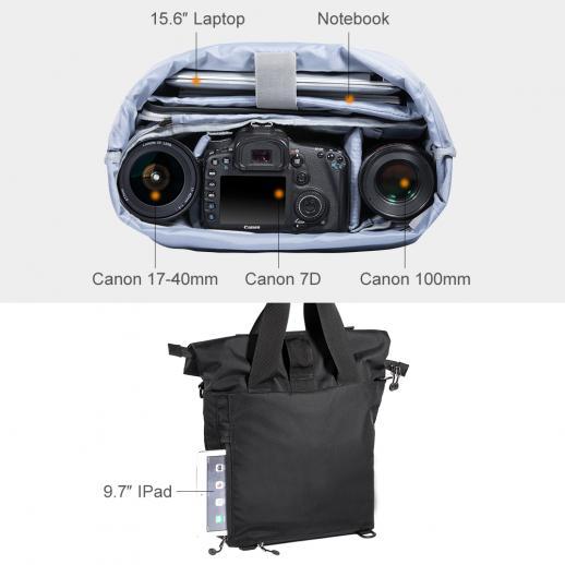 DSLRカメラの写真のための大きい肩のメッセンジャーバッグ40 * 13 * 58 cm