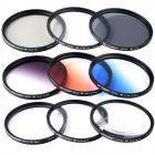 67mmフィルターセット(UV+CPL+FLD+ND2 ND4 ND8)+クリーニングクロス+花形レンズフード+レンズキャップ+ポーチ
